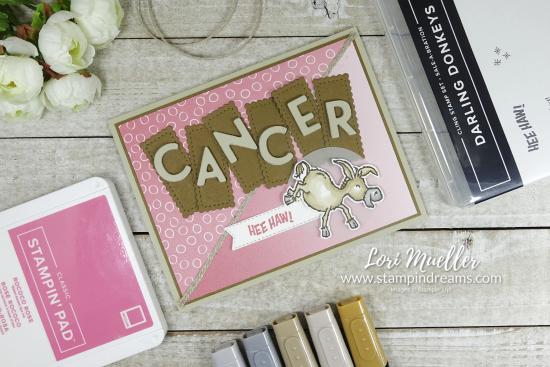 CreativeInkingHop-Darling Donkeys Cancer Flat-Lori Stampin Dreams-DSC03986