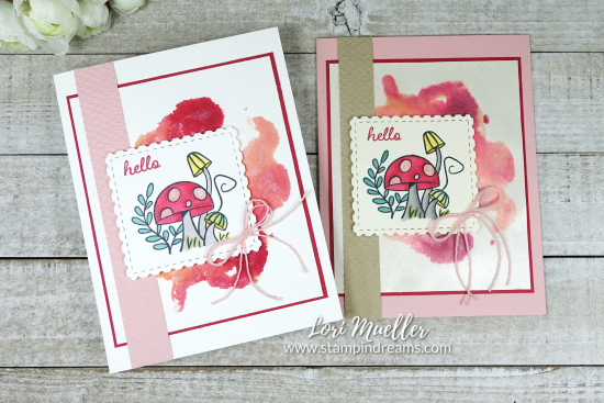 Snailed It-Hello Alcohol Ink Background 2 Cards-Stampin Dreams Lori Mueller-DSC04489