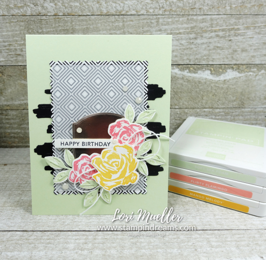 CreativeInkingHop-Brushed Blooms Birthday Ink-Stampin Dreams LoriDSC04132