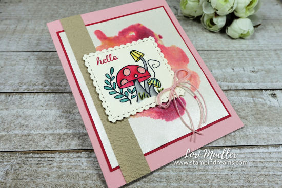 Snailed It-Hello Alcohol Ink Background Pearlescent-Stampin Dreams Lori Mueller-DSC04493