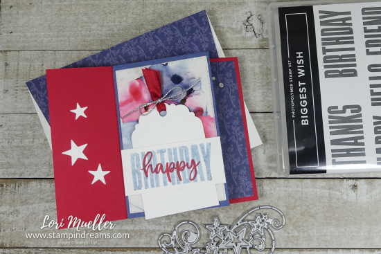 Biggest Wish-America Birthday Stamps-Stampin Dreams Lori Mueller-DSC04551