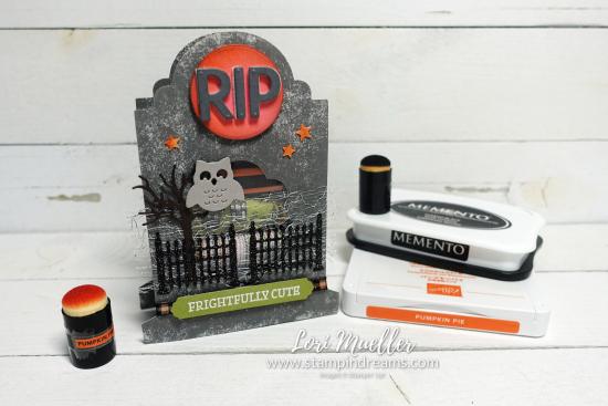 Frightfully Cute Tombstone Treat Box-Ink Daubers-Stampin Dreams Lori Mueller-DSC04868
